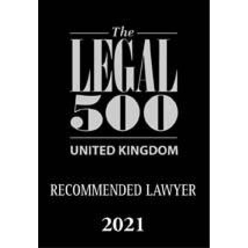 Legal 500 Recommended Lawyer 2021