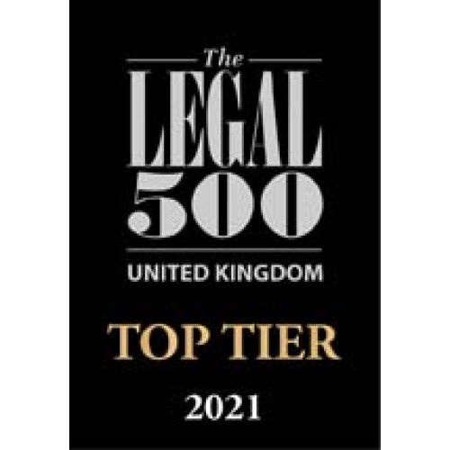 The Legal 500 -Top Tier 2021