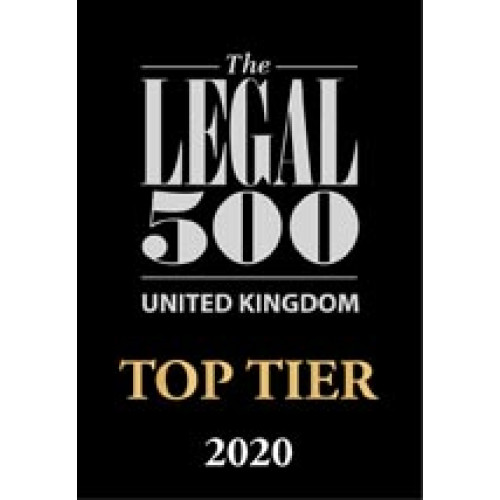 The Legal 500 -Top Tier 2020