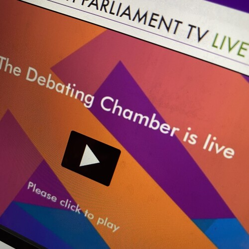 Scottish Parliament debating chamber is live