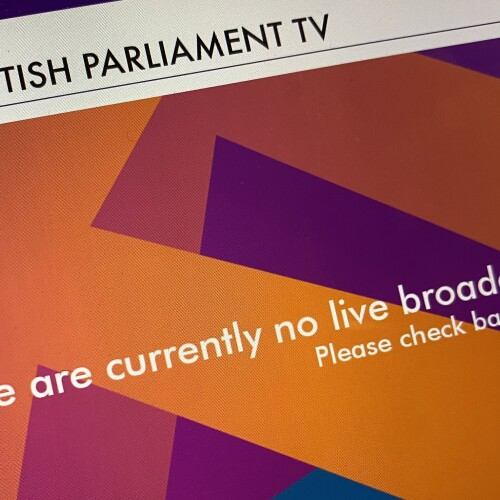 Scottish Parliament there are no live braodcasts